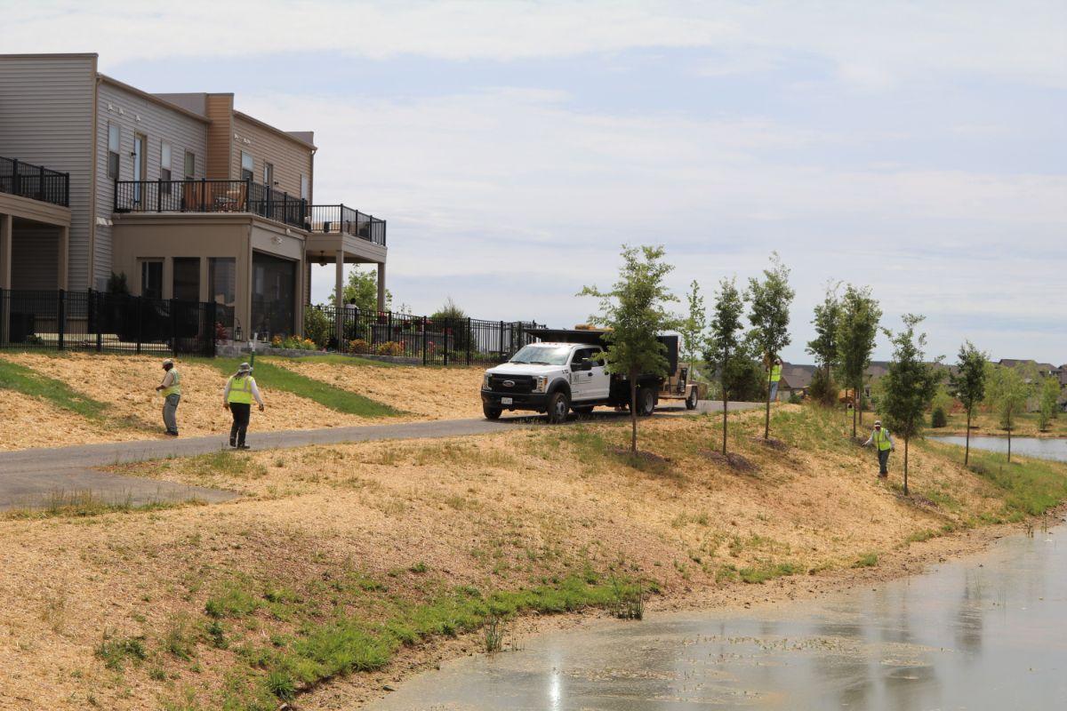 KTE On the Job:  Brambleton Pond Seeding (Jun 2020)